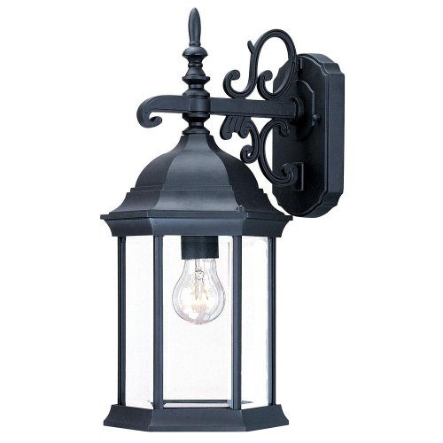 Acclaim 5184BK/SD Madison Collection 1-Light Wall Mount Outdoor Light Fixture, Matte Black