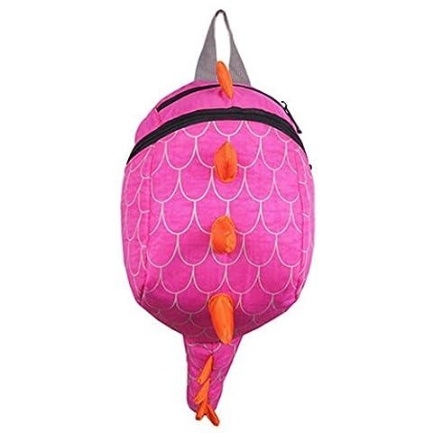 Happy Cherry Kid Toddler Children Dinosaur Backpack Lunch Travel Bag - Pink