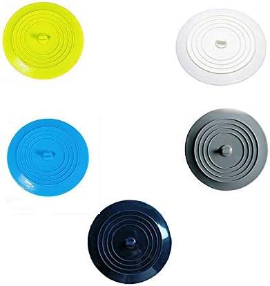 ARFUTE Anti-Fuite Bouchon deau Bassin /évier Attrape-Cheveux Ronde en Silicone Couvercle Plat Cuisine Vidange Plug Universel-Bleu