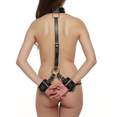 Greenpinecone® Bondage Handfesseln Handcuffs mit SM Halsband Sex-Spielzeug für Anfänger