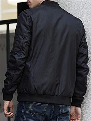 Outwear Bomber Lightweight Black Men's Jacket Coat Flight security Windbreaker w08BxqEdn