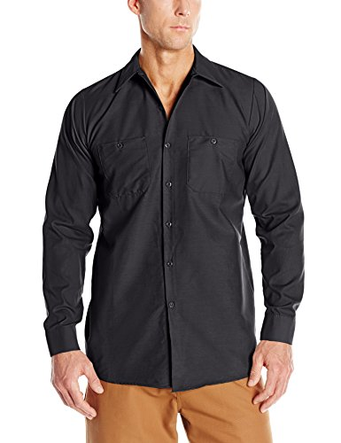 - Red Kap Men's Industrial Work Shirt, Regular Fit, Long Sleeve, Charcoal, X-Large