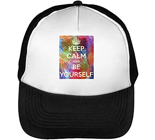 Yourself Keep Calm Gorras Blanco Negro Hombre Snapback Beisbol Be ExEwqRr