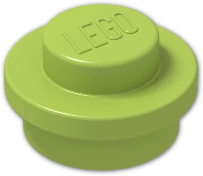 New 4073 Lot of 100 Lego LIME GREEN 1x1 PLATE ROUND