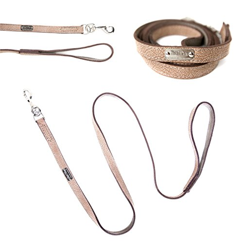 - Mighty Paw Leather Dog Leash, Super Soft Distressed Leather- Premium Quality, Modern Stylish Look