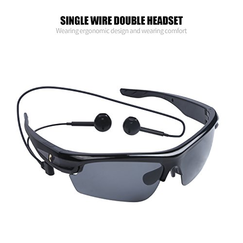 EPERFECT Sports Polarized lens Bluetooth Sunglasses with Smart Touch Function Wireless Stereo Bluetooth earphone for Outdoor Activities(Black)