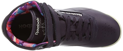 Reebok Freestyle Hi Geo Graphics Damen Sneaker Purple (Nght Violet/Pprwht/Pppy Red/Cnrd Blue/Orchd)