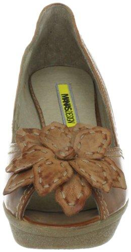 Marrón miele Mujer braun Dubai Vestir De Zapatos Manas 7gC6qx
