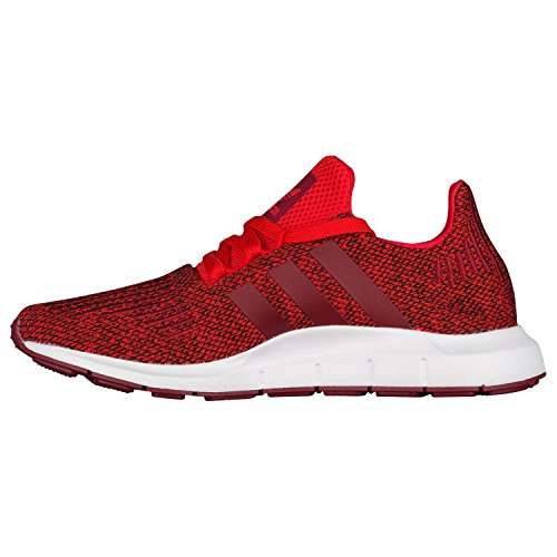 adidas Unisex-Kinder Swift Run J Fitnessschuhe rot (rot / Buruni / Ftwbla)