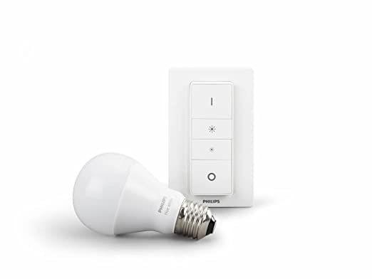 124 opinioni per Philips Hue Illuminazione wireless personale, Dimming Kit con Lampadina E27 e