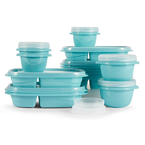 Rubbermaid TakeAlongs 10-Day Meal Prep Kit, Reflecting Pool, 30-Piece Set 2005692