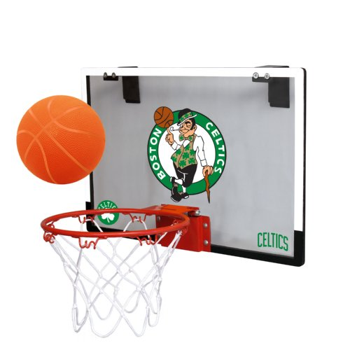 Nba Boston Celtics Game On Indoor Basketball Hoop   Ball Set