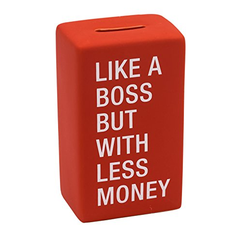 Like A Boss But With Less Money Funny Ceramic Coin Bank