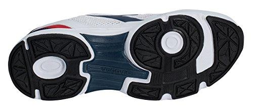 Diadora Shape 7, Zapatos para Correr Unisex Adulto White Saltire Navy