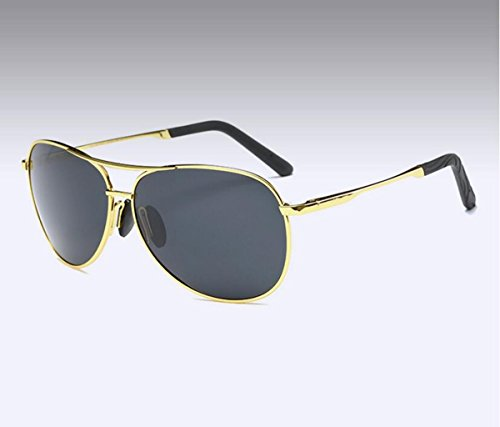 soleil pilote soleil frame HD de Glsyj Polariseur gray sheet spécifiques crapaud lunettes l'air de lunettes Gold de Miroir conduite l'armée black hommes LSHGYJ qwvH8xT8