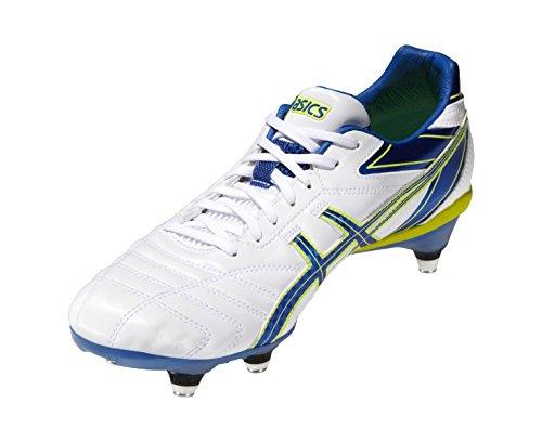Asics - Zapatillas de rugby de Material Sintético para hombre Blanco blanco/rojo/blanco Fc62zrf