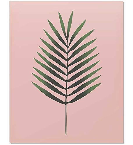 Tropical Leaf Print, Palm Print, Plant Print, Tropical Art, Tropical Decor, Palm Leaf Print, Botanical Print, Minimalist Green leaf Print, Contemporary Art, Leaf Art Print, Leaf Wall Art, Pink, 8x10