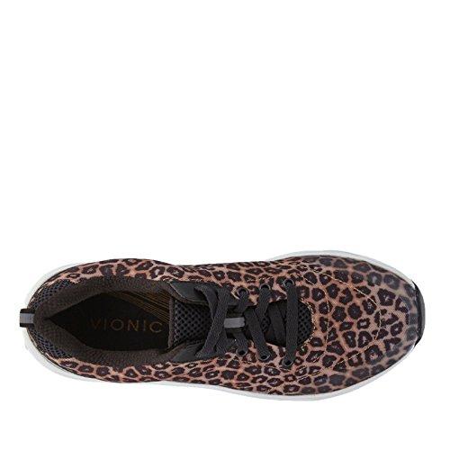 Vionic Damen Action Turnier Schnürschuhe Brauner Leopard