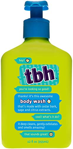 TBH Kids Body Wash - Gentle Exfoliating Body Wash - Sulfate, Paraben Free - 12 oz (Best Body Wash For Tweens)