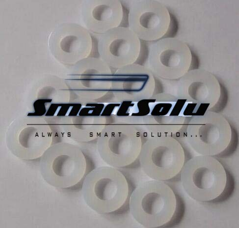 Fevas 50-Pack 1//2 DN15 Silicone Gasket O-Ring Brass Fittings JTB1001