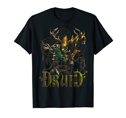 Elven Druid Fantasy Class Graphic T Shirts for Gamers]()