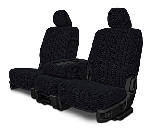 Custom Seat Covers for Ford Crown Victoria Front 50/50 Bench - Black Scottsdale