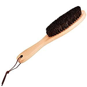 Wooden brush with Soft Horse Mane Remove hair Dust for Clothes Suits Coats Shoes Jacket Furniture Car Mat Pet hair ,Clothes brush Shoes Brush Coat Brush Suit Brush Garment Brush Lint Brush