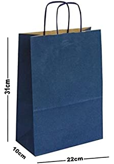 East of India Brown Paper Gift Bags Merry Christmas Houses x 50