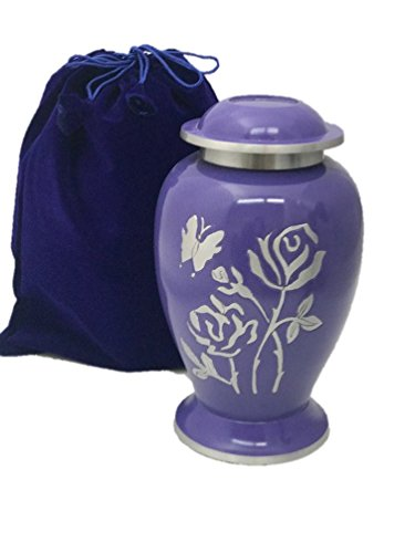 Gorgeous Adult Size Funeral Cremation Urn Ash Urns-Beautiful Lavender -
