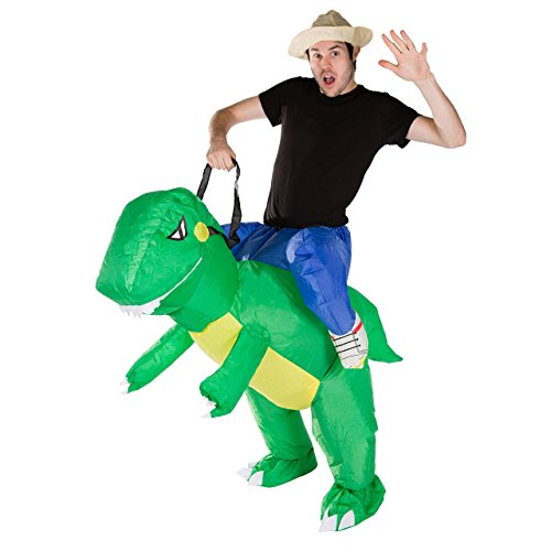 Inflatable T Rex Costume For Sale (Bodysocks - Inflatable Dinosaur Piggyback Blow Up Animal T-REX Adult Fancy Dress Costume)