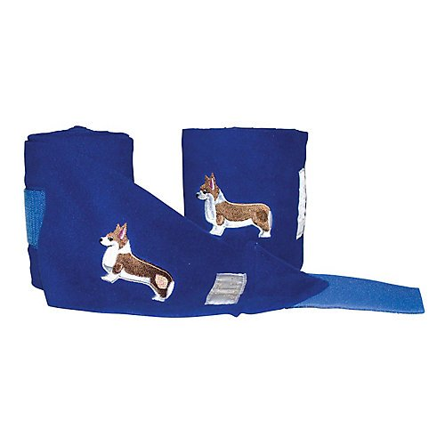 Lettia Embroidered Corgi Fleece Polo Wraps