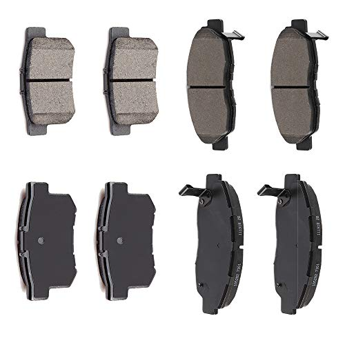 - AUTOMUTO Front Rear Ceramic Brakes Pads Set fit for 1997 1998 1999 Acura CL,1990-2002 Honda Accord,2002 2003 2006 2007 2008 2009 2010 2011 Honda Civic