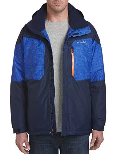 Columbia Men's Alpine Action Big & Tall Jacket, Collegiate Navy/Azul Matrix Print, 4X