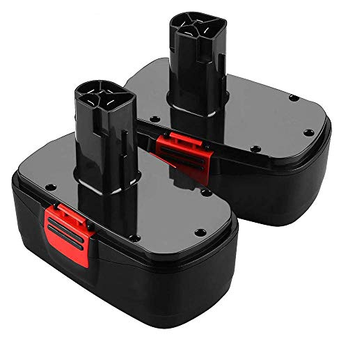 2Pack 19.2 Volt 3600mAh Battery for Craftsman C3 DieHard Ni-MH Replacement 130279005 130279003 130279017 315.113753 315.115410 315.11485 1323903 1323517 11375 11376 Cordless Tools 2Packs