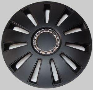 "Tapacubos Ruedas coche Silverstone Pro negro 14"" pulgadas 4 x, Opel Audi"