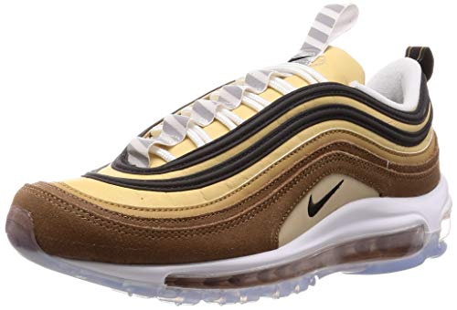 Nike Men's Air Max 97 Fashion Sneakers, Ale Brown, Black-elemental Gold, (11)