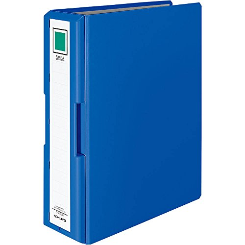 Kokuyo pipe type file with handle Ekotsuin A4 2 hole 800-sheet blue off -UT1680B