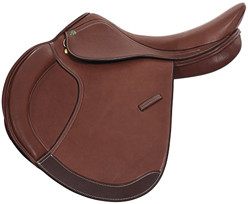 Henri de Rivel Pro Concept Close Contact English Saddle | Horse Riding Equestrian Saddle - Oak Bark Smooth - 16.5 Regular ()
