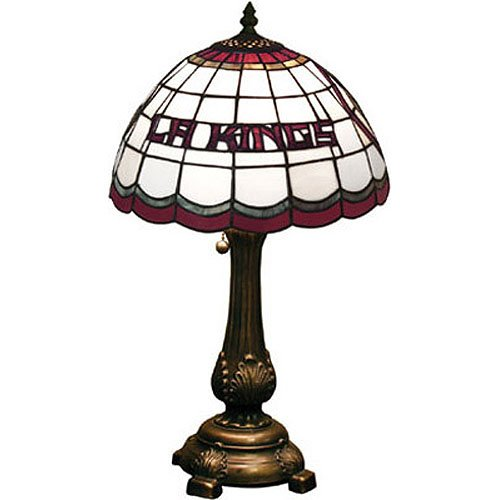Table Nhl Lamp (Memory Company NHL Los Angelos Kings Tiffany Table Lamp, One Size, Multicolor)