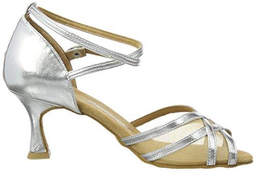Baile Zapatos Plateado 087 035 De Diamant Mujer 013 silber tqXw4xZ