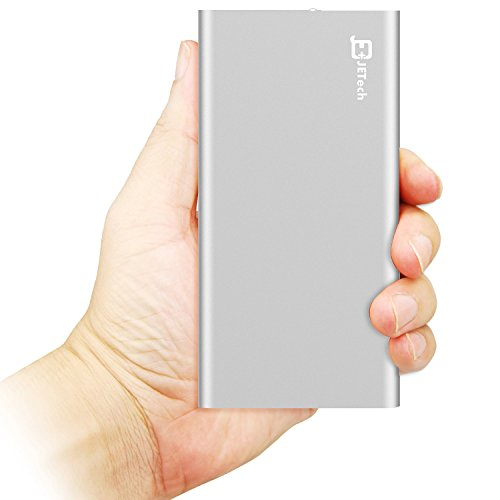 Power Bank, JETech® 10,000mAh 2-Output Portable External Power Bank Battery Charger Pack for iPhone 6/5/4, iPad, iPod, Samsung Devices, Smart Phones, Tablet PCs - Silver