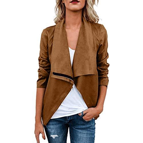 Embellished Silk Jacket - URIBAKE ❤ Fashion Women's Jacket Autumn Winter Retro Rivet Zipper Up Bomber Jacket Casual Coat Outwear