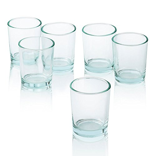 Clear Glass Round Votive Candle Holders Set of 36