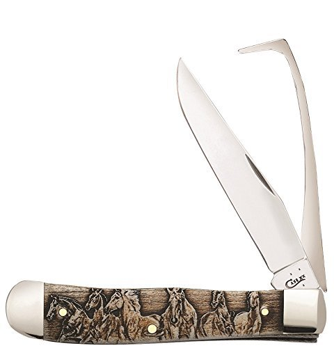 Case Cutlery CA25985-BRK Equestrians Knife Smooth Bone