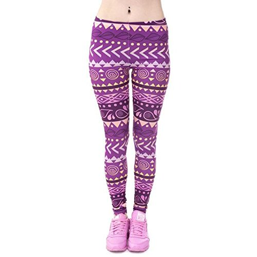 18c2853d537b7 Zohra Brands Women Fashion Legging Aztec Round Ombre Printing Leggins Slim  High Waist Leggings Woman Pants at Amazon Women's Clothing store: