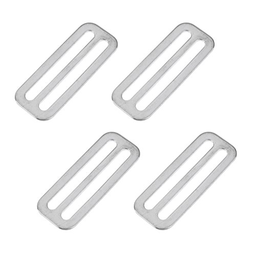 4pcs Stainless Steel Tri-Slide Buckles Keeper For 2