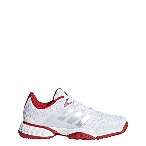 adidas Barricade 2018 XJ, Zapatillas de Tenis Unisex Niño, Blanco (Ftwbla/Negbas/Ftwbla 000), 33.5 EU