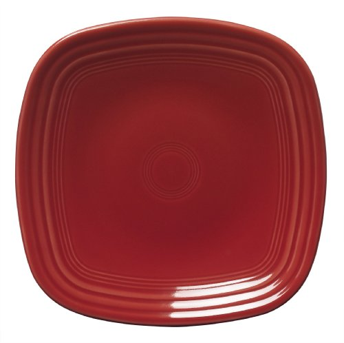 Fiesta 9-1/4-Inch Square Luncheon Plate  Scarlet