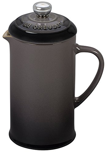 Le Creuset of America Stoneware Petite French Press, 12 oz, Oyster