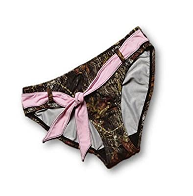 Ladies Mossy Oak Breakup Camo with Pink Trim Mix & Match Swimwear